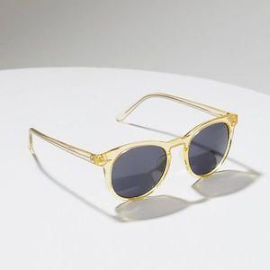 LOFT Yellow Clear Round Sunglasses